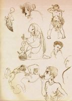 Aug. '13 sketchdump: lizard alchemy, et al. by emera
