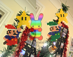 Mario and Luigi Christmas Tree Topper by louisalulu
