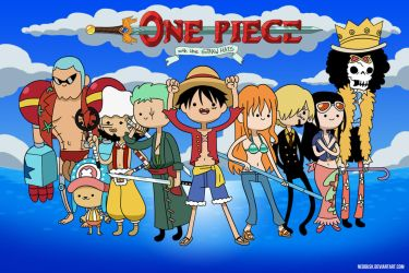 Adventure Time with the Straw Hat Pirates by Neodusk
