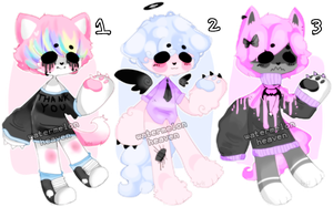 pastel goth losers {set price} {2/3 open} by WATERMELONHEAVEN