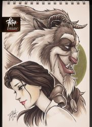 COPIC sketch 82 BEAUTY_BEAST by FranciscoETCHART