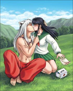 kiriban - Inuyasha and Kagome by kayshasiemens