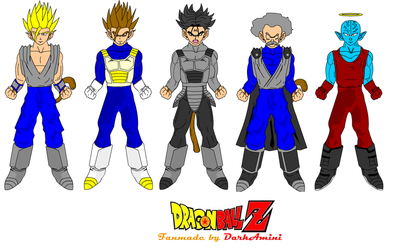 Dragon Ball Z Fanmade Characters By: DarkAmini by o-Amini