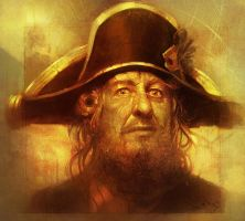Face of a Caribbean pirate : Captain Hector Barbos by ali-kiani-amin