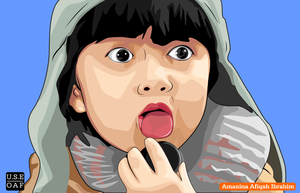 afiqah makan biscuit .......... unyu unyu... by Yusuf-Graphicoholic