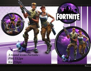 Fortnite round icons PNG ICO by favorisxp