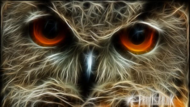 Fractal Eagle Owl #02 by FenrisOswin