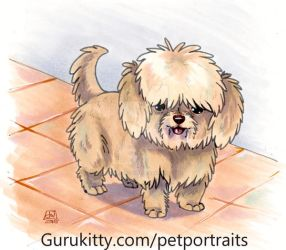 Teddy - Pet Portrait Commission by Marker-Guru
