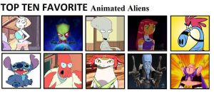 Top Ten Favorite Animated Aliens by mlp-vs-capcom