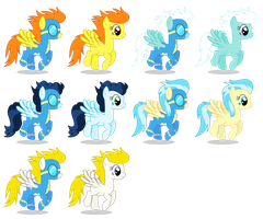 Background Wonderbolts Ponies (Female) by 90Sigma
