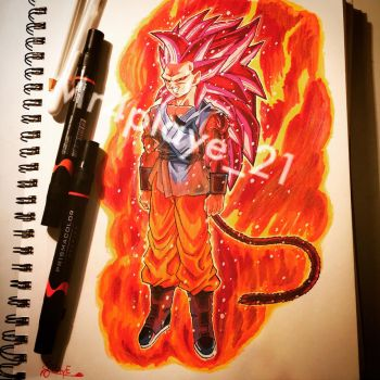 My version of super saiyan God 4  by ChocolateGasMask26