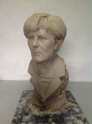 Angela Merkel Portrait Sculpture -wip by Rashat