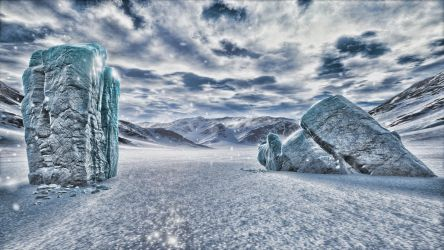 HDR Ice pillars by 5p34k