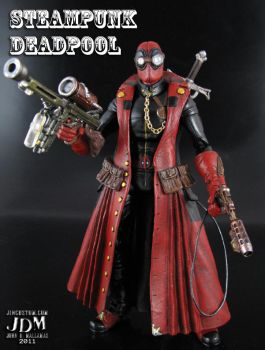 Steampunk Deadpool by Jin-Saotome