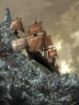 Copper Sails on Crystal Seas by taisteng