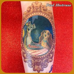 Lady and the Tramp Frame tattoo. by paulabstruse