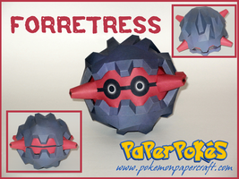 Forretress Papercraft by Skeleman