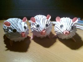3D origami mouses by Michaelle111