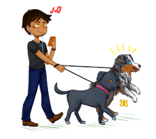 self proclaimed dog whisperer and his doggos (gif) by withwingsthatfly