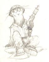 Polecat soldier by Weaslet