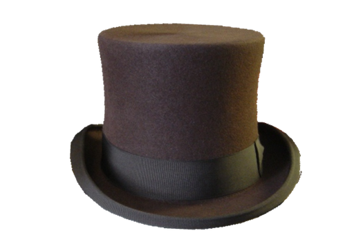 brown Top hat PNG by DoloresMinette