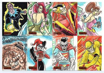 DC Comics Sketchcards Supervillains 2015 by marciocabreira