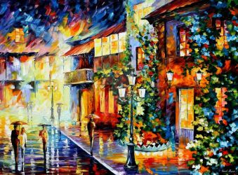 Town From The Dream by Leonid Afremov by Leonidafremov