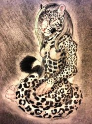 Moongaze the Jaguar by PaintlessDog by ChocolateStarfire