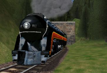 611 Comming out of tunnel by RailToonBronyfan3751