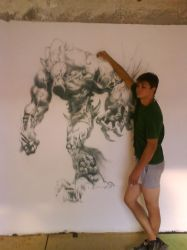 Monster on the wall by serzomanik