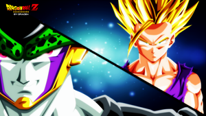 Cell Perfect vs Gohan (Dragon Ball Z) by DraDek