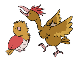 Spearow and Fearow by HappyCrumble
