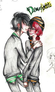 Slytherin and Hufflepuff by Solachine