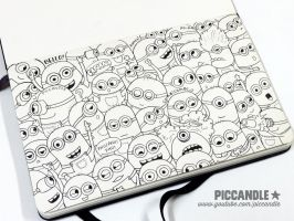 Minions Doodle [Video] by PicCandle
