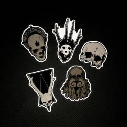 skull stickers collection by torvenius