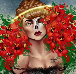 Halo of flowers by SheReadsALot