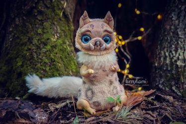 Saber-toothed catowl artdoll by Furrykami-creatures