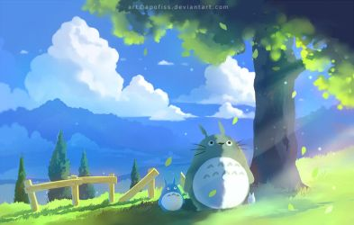 totoro summer ( update! ) by Apofiss