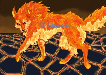 fire wolf by rusting-angel