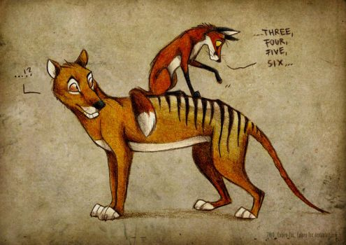 Thylacine Stripes by Culpeo-Fox