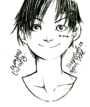 Monkey D Luffy sketch by theUglyFace