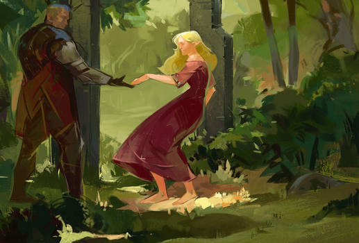 commission: Posie Lavellan and Cullen by HeathWind