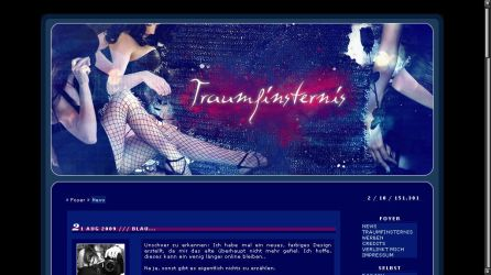 Design for TRAUMFINSTERNIS.DE by Dracovina