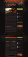 Warforge - Game Website Design by Evil-S