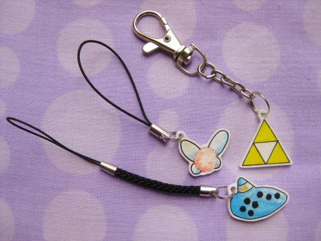 Legend of Zelda Keyrings by opiel16