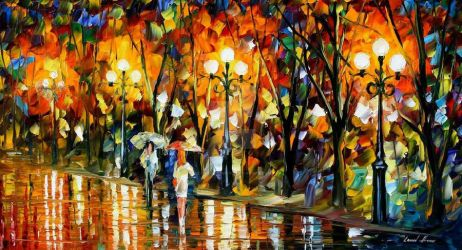 Night Rainbow by Leonid Afremov by Leonidafremov