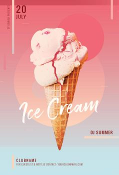 Ice Cream Flyer by styleWish