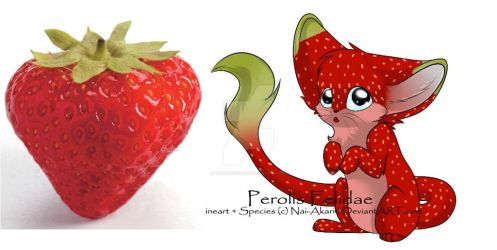 Fruit Themed Adoptables 1 [strawberry] by alkindadopts