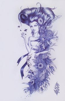 Flower lady by Forace