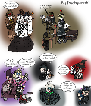 Danganronpa V3 Doodles by Duckyworth